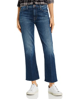 MOTHER - The Outsider Ankle Flare Jeans in Roasting Nuts