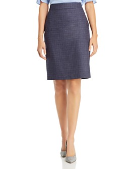 BOSS - Virusa Crosshatch Wool Pencil Skirt