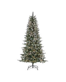 Gerson Company - 7 ft. Natural Cut Arctic Pine with Glitter and Clear Lights