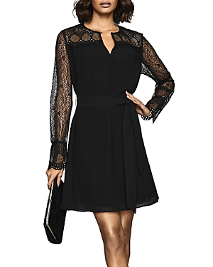 Reiss Dresses CALLISTA BELTED LACE DRESS