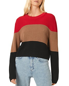 FRENCH CONNECTION - Striped Cotton Crewneck Sweater