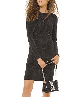 MICHAEL Michael Kors - Metallic Twist-Front Mini Dress