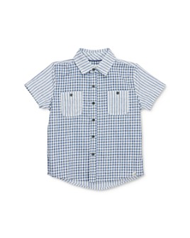 Sovereign Code - Boys' Kriss Mixed-Print Camp Shirt - Little Kid, Big Kid