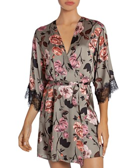 Midnight Bakery - Floral Print Wrap Robe