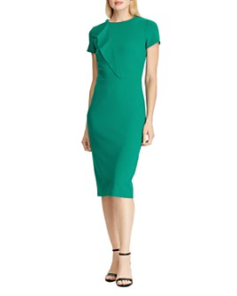 Ralph Lauren - Ruffle-Trimmed Crepe Dress