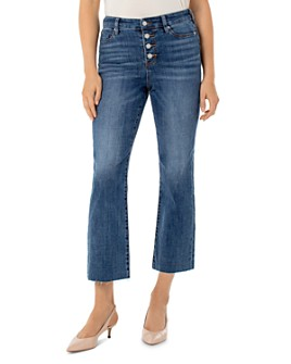 Liverpool Los Angeles - Stevie Cropped Stovepipe Jeans in Latika