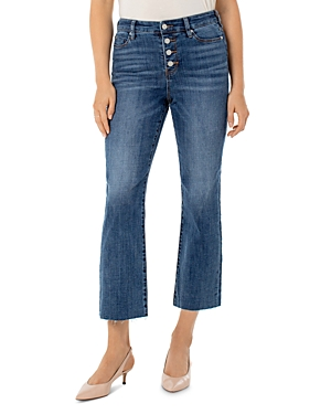 Liverpool Los Angeles Stevie Cropped Stovepipe Jeans in Latika-Women