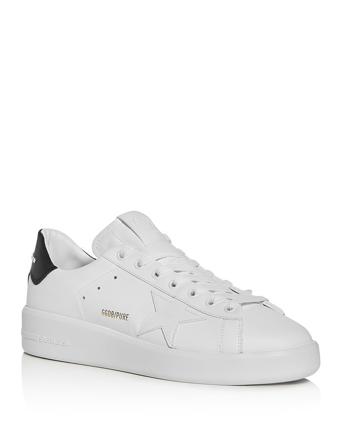 GOLDEN GOOSE UNISEX PURE STAR LEATHER LOW-TOP SNEAKERS