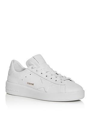 Golden Goose Deluxe Brand Men's Pure Star Leather Low-Top Sneakers