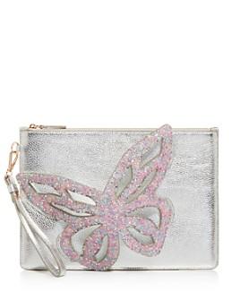Sophia Webster - Flossy Embellished Butterfly Leather Wristlet