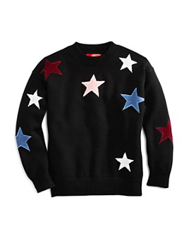 AQUA - Girls' Embroidered Star Sweater, Big Kid - 100% Exclusive