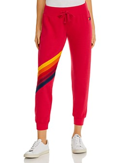 Aviator Nation - Rainbow-Stripe Jogger Pants