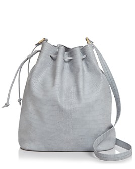AQUA - Croc-Embossed Bucket Bag - 100% Exclusive