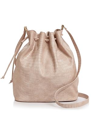 Aqua Croc-Embossed Bucket Bag - 100% Exclusive-Handbags