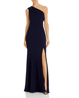AQUA - One-Shoulder Scuba Crêpe Gown - 100% Exclusive