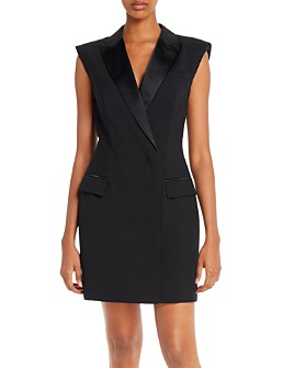 Escada Sport - Dyla Satin-Trimmed Tuxedo Dress