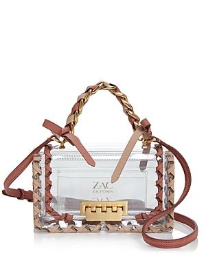 Zac Zac Posen Earthette Mini Clear Crossbody-Handbags