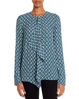 Elie Tahari - Pernilla Kaleidoscope Ruffled Shirt