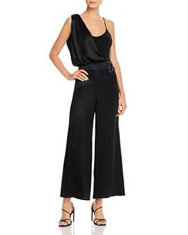 Cushnie - Draped Wide-Leg Silk Jumpsuit