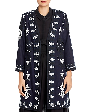 Kobi Halperin Aster Embroidered Open Coat