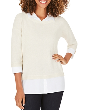 Foxcroft Miles Layered-Look Sweater