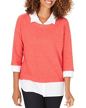 Foxcroft Miles Layered-Look Sweater-Women