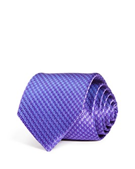 The Men's Store at Bloomingdale's - Geometric Cube Woven Silk Classic Tie - 100% Exclusive