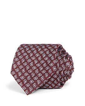 The Men's Store at Bloomingdale's - Pine Paisley Woven Silk Classic Tie - 100% Exclusive