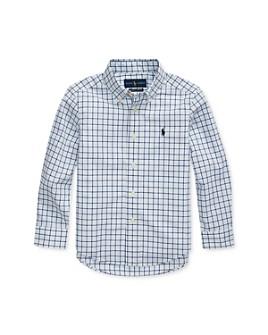 Ralph Lauren - Boys' Plaid Poplin Button-Down Shirt - Little Kid