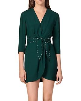 Sandro - Prunel Belted Mini Dress