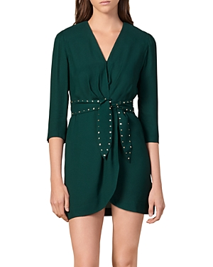 Sandro Dresses PRUNEL BELTED MINI DRESS