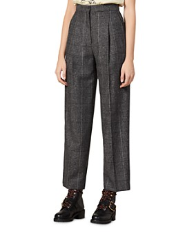 Sandro - Daniel Checked & Pleated Pants