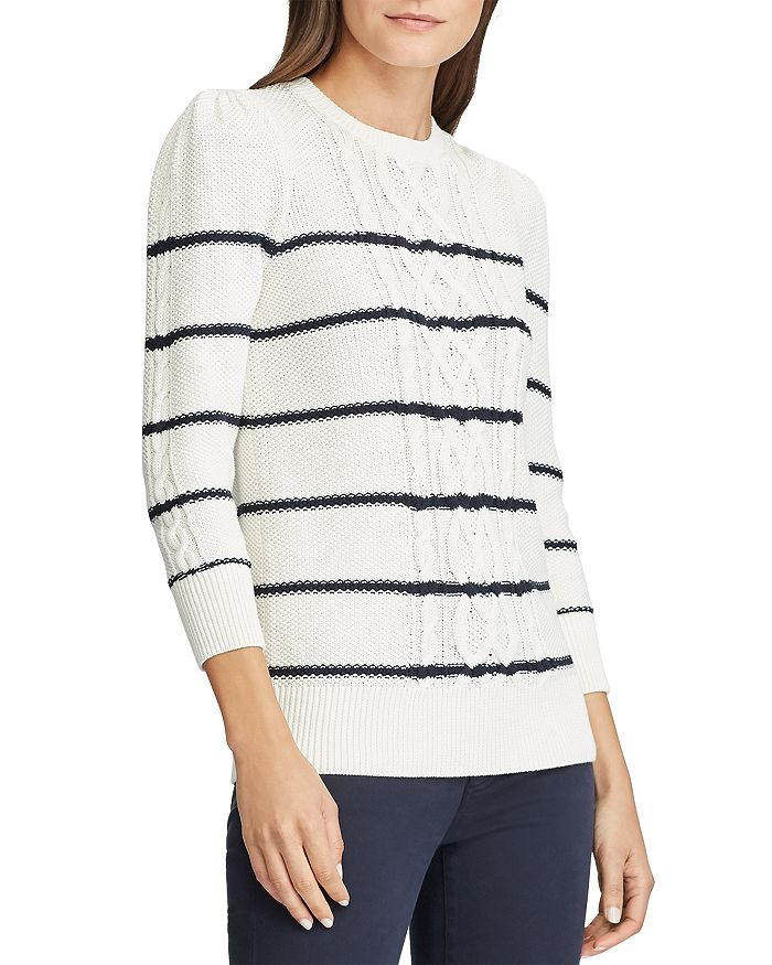 Ralph Lauren - Striped Cable Knit Sweater