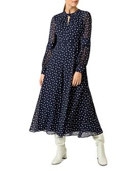 HOBBS LONDON - Piper Polka Dot Midi Dress