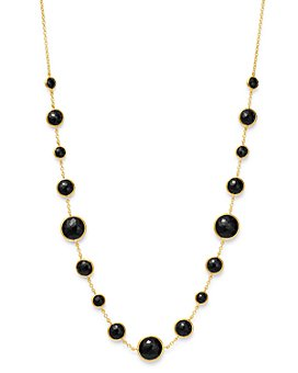 IPPOLITA - 18K Yellow Gold Lollipop® Lollitini Onyx Statement Necklace, 16-18""