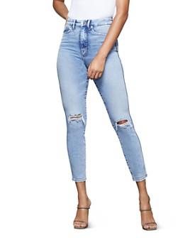 Good American - Good Curve Crop Skinny Jeans in Blue355