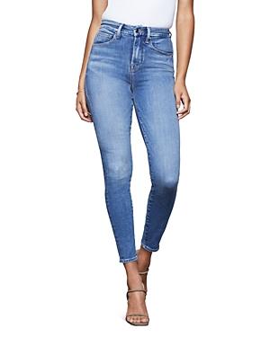 Good American Good Waist Skinny Jeans in Blue350-Women