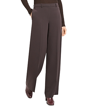 Theory Admiral Crepe Wide-Leg Pants