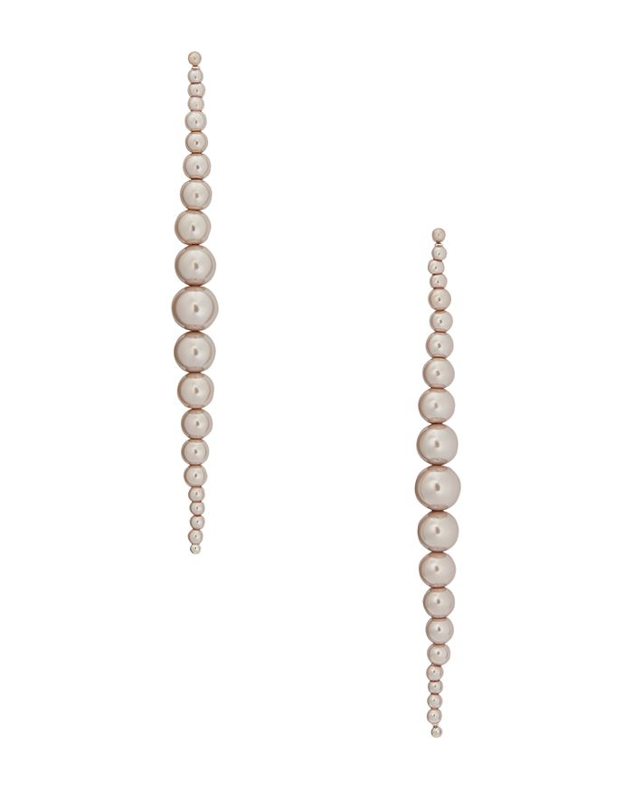 kate spade new york - Modern Simulated Pearl Linear Earrings
