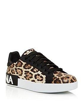 Dolce & Gabbana - Women's Leopard Print Low-Top Sneakers
