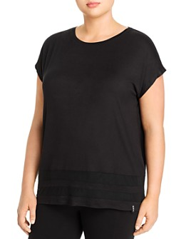 Marc New York Plus - Heathered Tonal Trim Tee