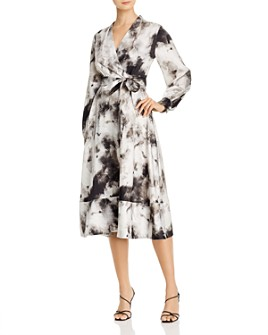 Donna Karan - Printed Midi Wrap Dress