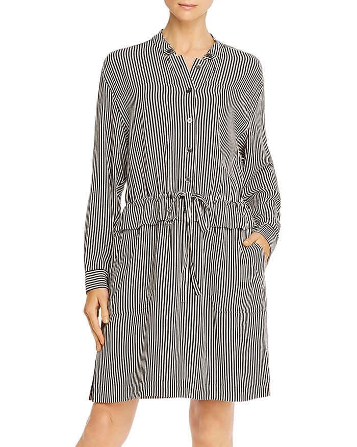 Equipment - Lizza Striped Drawstring Dress