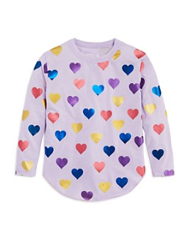 CHASER - Girls' Foil Hearts Top - Little Kid, Big Kid