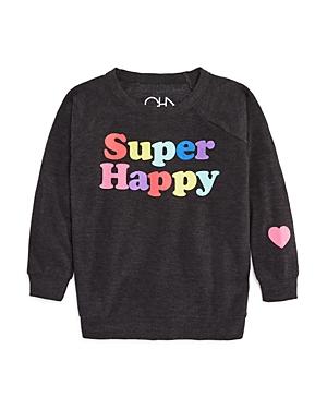 Chaser Girls' Super Happy Sweatshirt - Big Kid