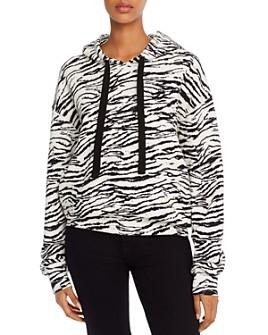 PAM & GELA - Tiger Print Hooded Sweatshirt