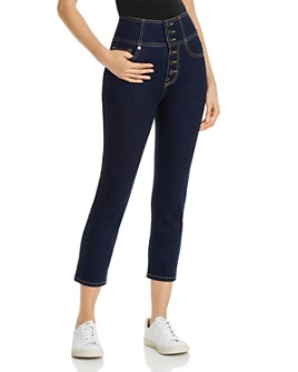 Joie - Laurelle High-Rise Cropped Straight-Leg Jeans in Moonstone