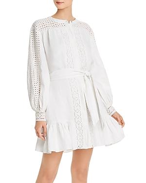 Joie Bastina Eyelet Detail Linen Dress-Women