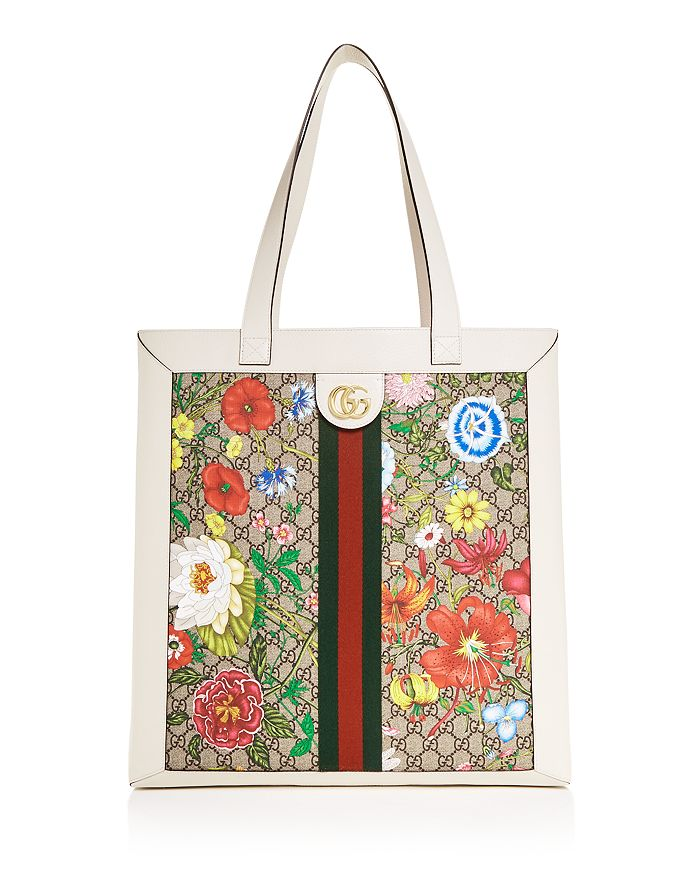 Gucci - Ophidia GG Flora Large Tote