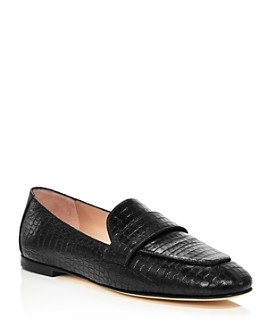Stuart Weitzman - Women's Payson Croc-Embossed Loafers